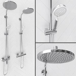 crometta s showerpipe 240 3D model