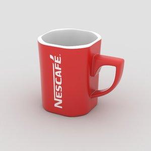 nescaf mug 3D model