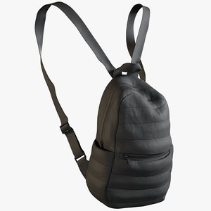 realistic women s backpack 3D model