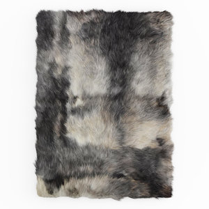 carpet sheepskin rug rectangle 3D model