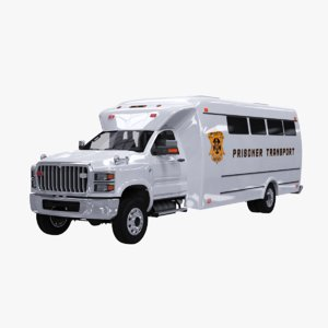 prisoner transport bus 3D model