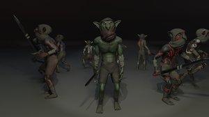 3D goblin character model