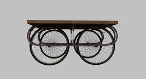 vegetable salesman fruit cart 3D model