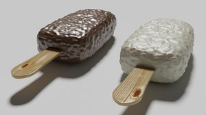 popsicle chocolate 3D model