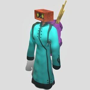 3D model adventurer robot