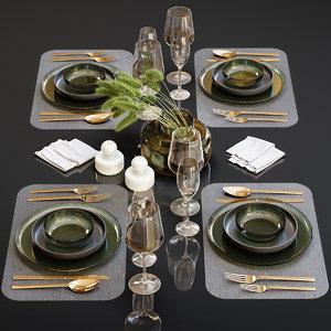 3D table setting 23 model