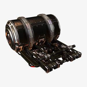 hydraulic unit 3D model