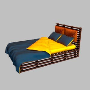 3D stylized bed