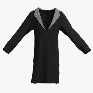male overcoat 001 3D