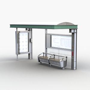 3D japanese bus stop model