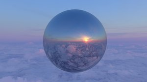 High Altitude Sunset 360 11K HDRI
