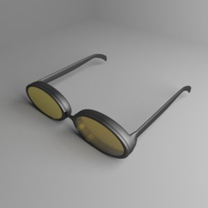 3D safety goggles 5 model