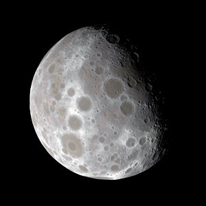dwarf planet small moon 3D