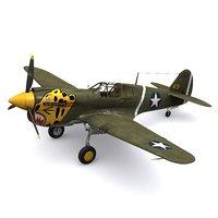 P-40E Warhawk 11FS 343FG Aleutian Tigers 1942