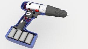 power drill battery 2 3D model