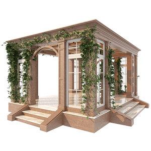 architecture gazebo landscape 3D model