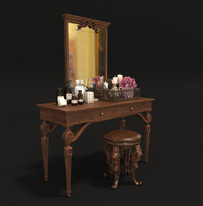 3D model dressing table classic