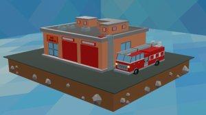 station engine 3D