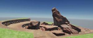3D photogrammetry rock cascade