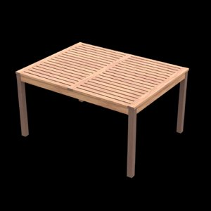 table wood wooden 3D