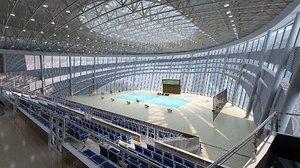 indoor tennis stadium 3D model