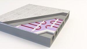 information floor heating 3D model