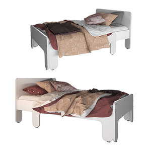 3D model slakt extendable bed ikea