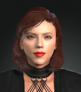 3D model character design actor scarlett