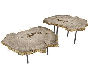 3D sliced wood table