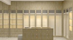 wardrobe design interior 3D model