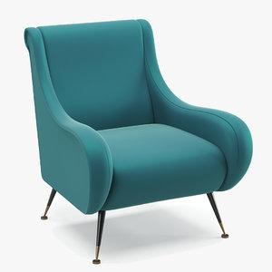 eichholtz giardino 110294 armchair 3D model
