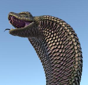 3D monster snake model