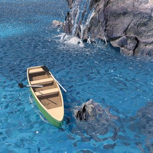 3D boat rocks