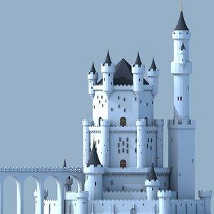 3D fantasy castle model
