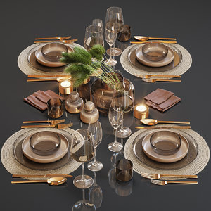 3D table setting 24
