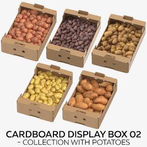 cardboard display box 02 3D model