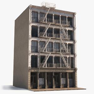 soho facade 3 architecture 3D model