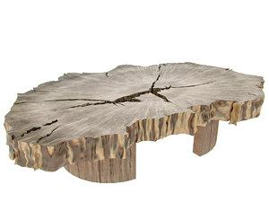 sliced wood table model