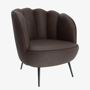 leather shelby chair 3D model