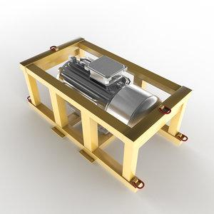 - engine close-up model