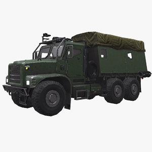 3D model army truck pbr