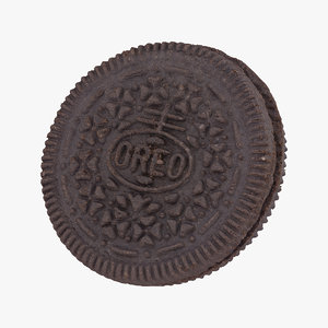 oreo cookie 01 raw 3D model