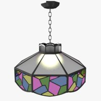 chandelier stained glass 3D
