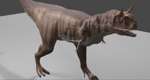 carnotaurus rigged uv mapped 3D model