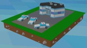 3D police station