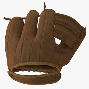 3D model vintage baseball glove generic