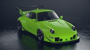 porsche 911 993 rwb 3D