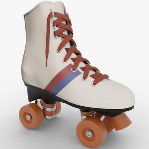 3D vintage roller model