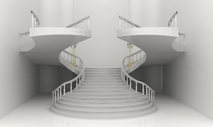 3D realistic stair