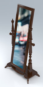 cheval stand mirror 3D model